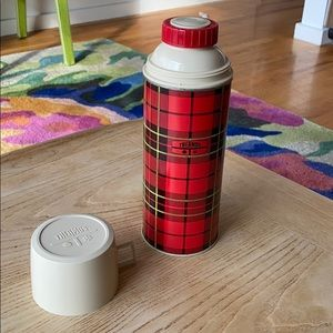 Vintage Thermos tartan plaid 70's works